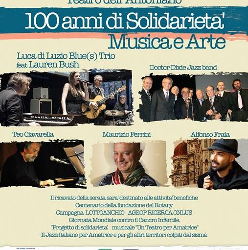 100 anni di solidarieta' musica e arte